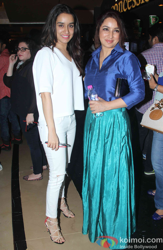 Shraddha Kapoor and Tisca Chopra during the special secreening of movie 'ABCD 2'