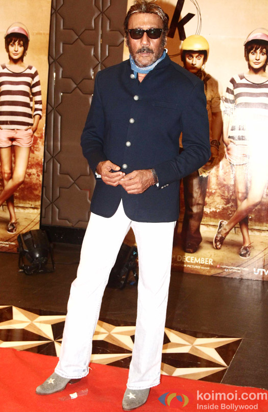 Jackie Shroff during the success party of movie 'PK'
