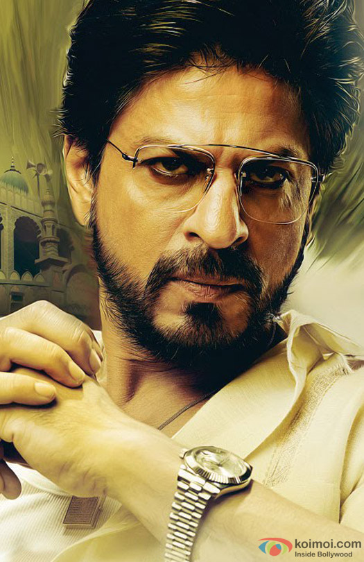 Shah Rukh Khan in a beard look still from movie 'Raees (2016)'