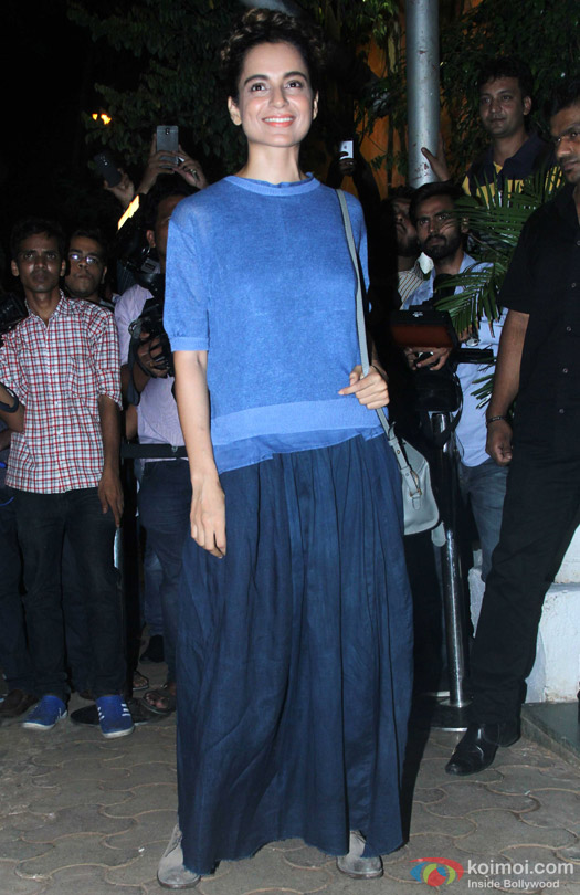 Kangana Ranaut during the 'ABCD 2′ Success Bash