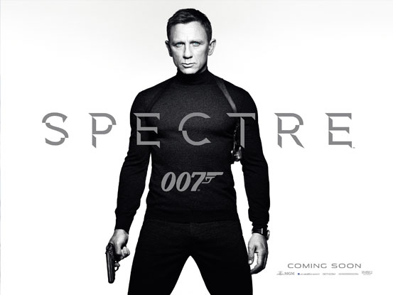 Sam Mendes in a 'Spectre' moive poster