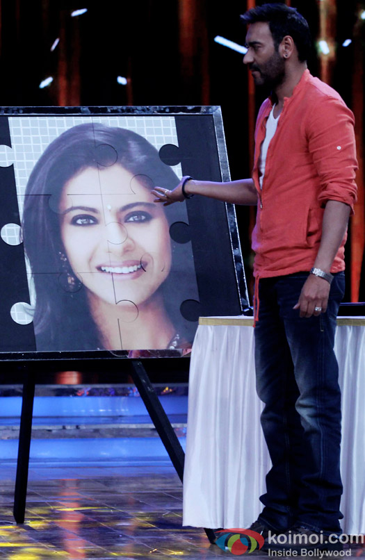 Ajay Devgn during the promotion of DRISHYAM on the sets of Nach Balliye