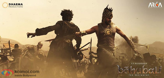 Prabhas in a still from movie 'Baahubali'