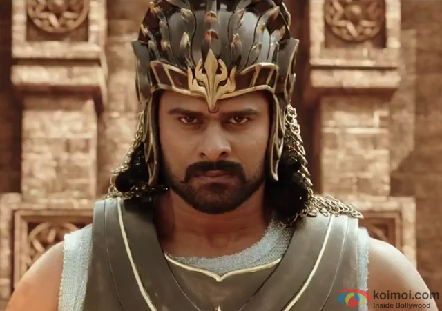 Prabhas in a still from movie 'Bahubali'