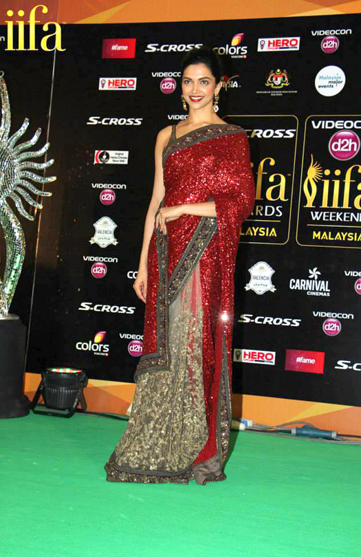 Deepika Padukone at IIFA 2015 Green Carpet