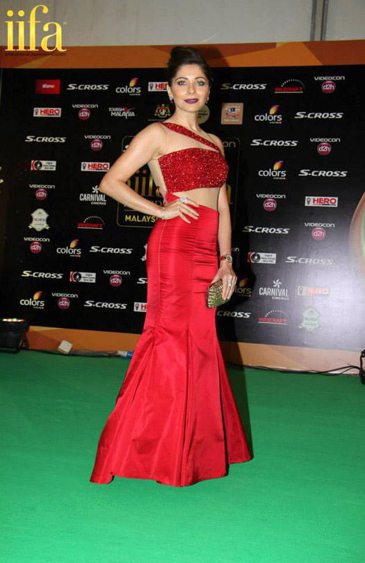 Kanika Kapoor at IIFA 2015 Green Carpet