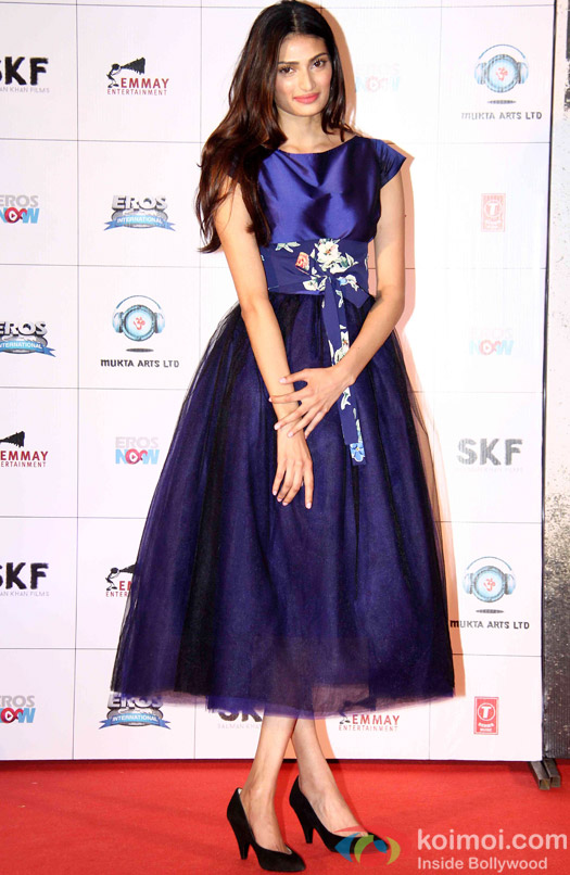 Athiya Shetty during the first look launch of movie 'Hero'
