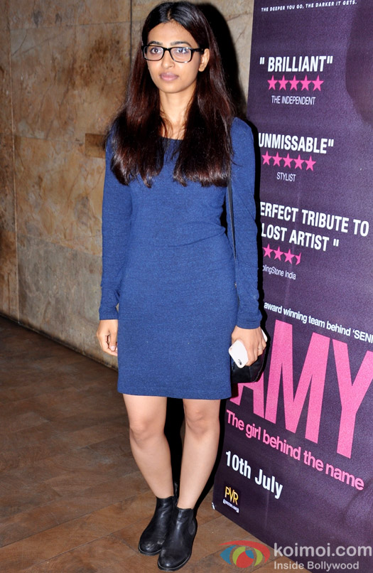 Radhika Apte during the Amy premiere in India