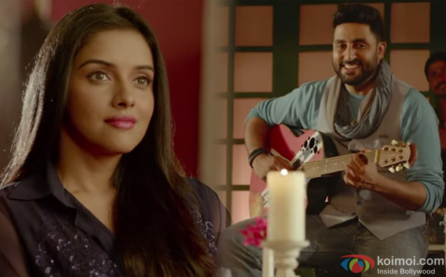 Asin and Abhishek Bachchan in a 'Mere Humsafar' song still from movie 'All Is Well'
