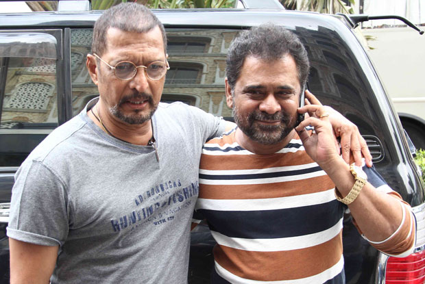 Nana Patekar and Anees Bazmee during a song shoot for movie 'Welcome Back'