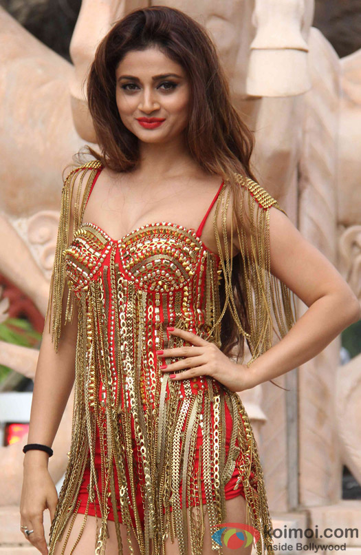 Ankita Srivastava during a song shoot for movie 'Welcome Back'