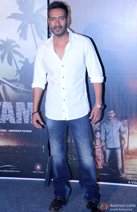 Ajay Devgn during the press conference of movie 'Drishyam'