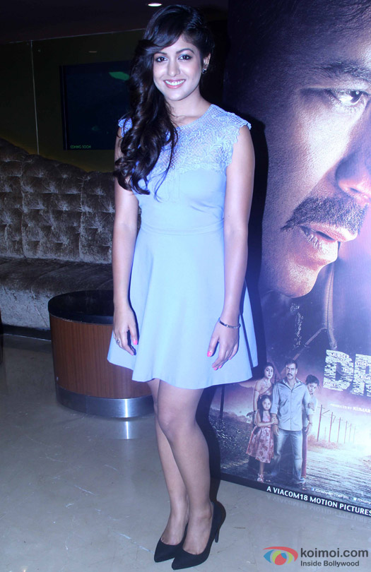 Ishita Dutta during the press conference of movie 'Drishyam'