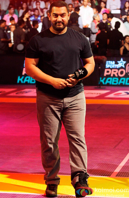 Aamir Khan during the opening ceremony of the Pro Kabaddi League 2015