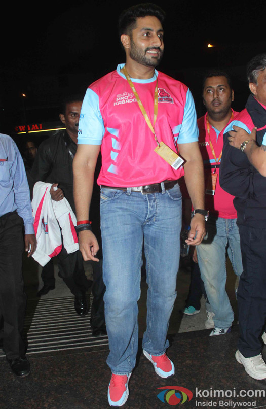 Abhishek Bachchan during the opening ceremony of the Pro Kabaddi League 2015