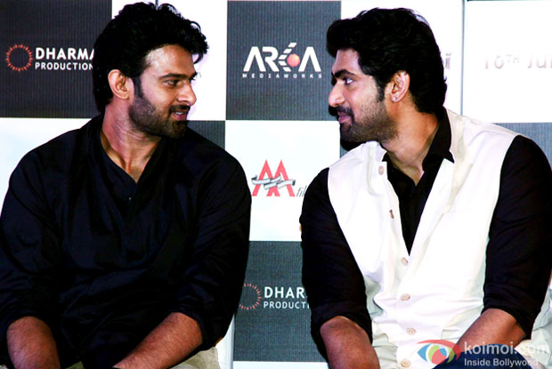 Prabhas and Rana Daggubati at an event