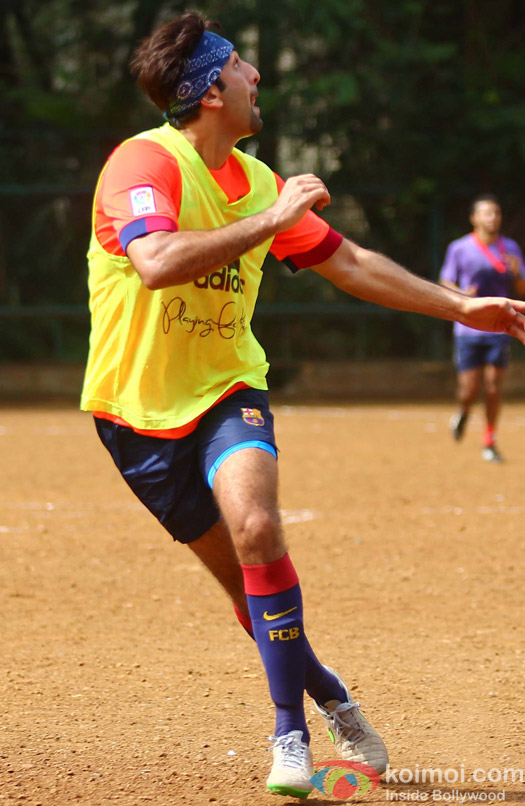 Ranbir Kapoor Snapped At Playing Football