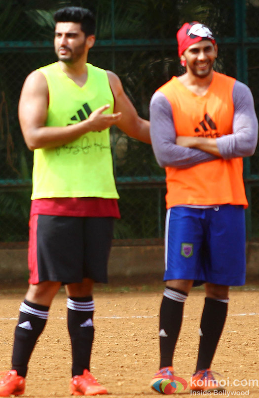 Arjun Kapoor Snapped At Playing Football