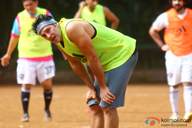 Dino Morea Snapped At Playing Football