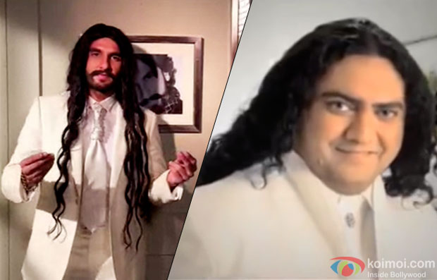 "Ranveer Singh shot a dubsmash video on a hit Pakistani song ""eye-to-eye"" by Taher Shah"