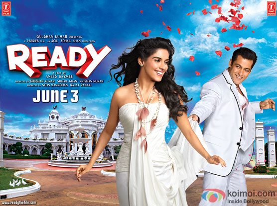 Asin and  Salman Khan in a 'Ready' movie poster