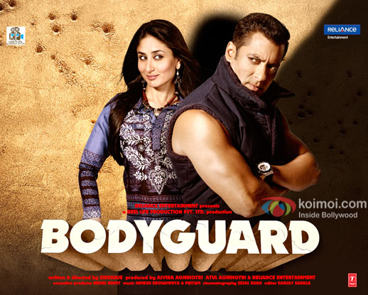 Kareena Kapoor Khan and Salman Khan in a still from 'Bodyguard' movie poster