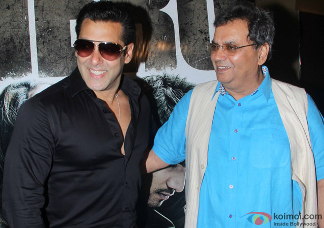Salman Khan and Subhash Ghai during the trailer launch of movie 'Hero'