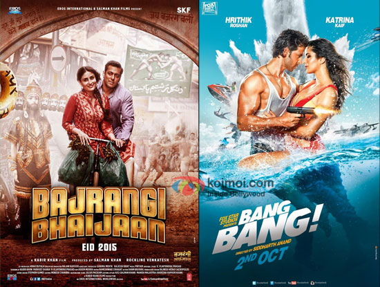 Bajrangi Bhaijaan and Bang Bang movie posters