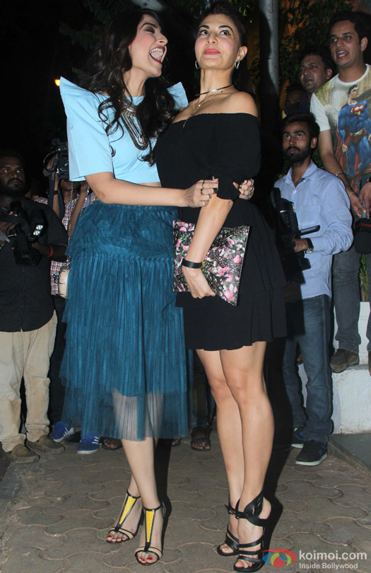 Sonam Kapoor and Jacqueline Fernandez during 'ABCD 2' Success Bash