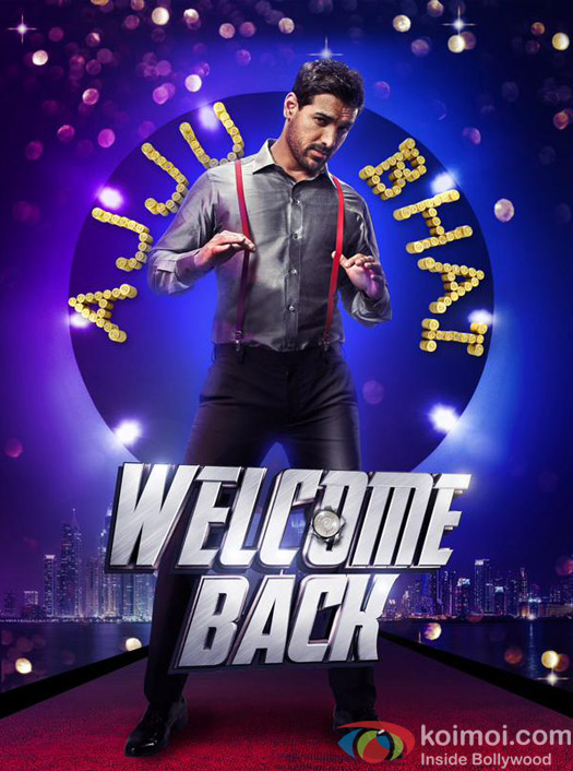 John Abraham in a still from 'Welcome Back' movie poster