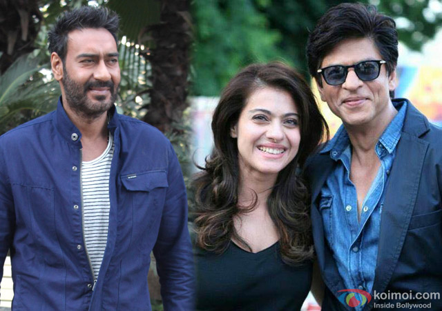 Ajay Devgn, Kajol and Shah Rukh Khan