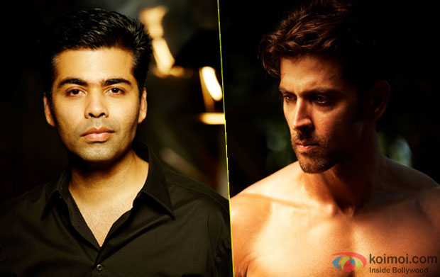 Karan Johar and Hrithik Roshan