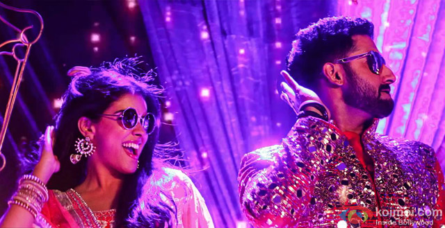 Asin and Abhishek Bachchan in a still from movie 'All Is Well'