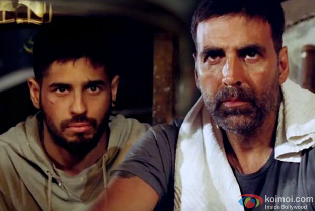 Sidharth Malhotra and Akshay Kumar in a still from movie 'Brothers'