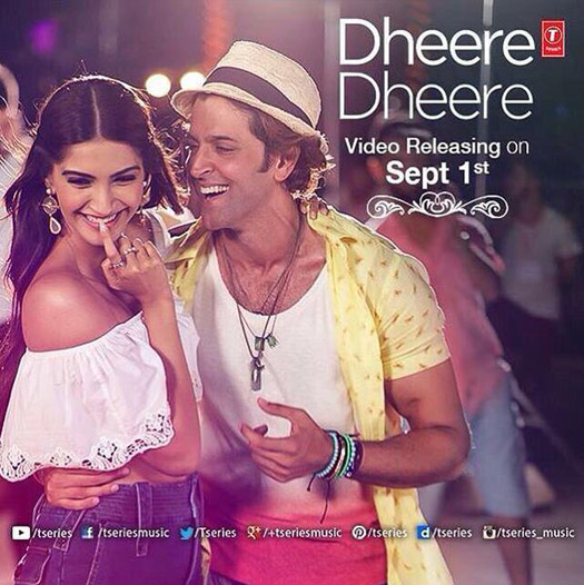 Sonam Kapoor and Hrthik Roshan in a still from track 'Dheere-Dheere'