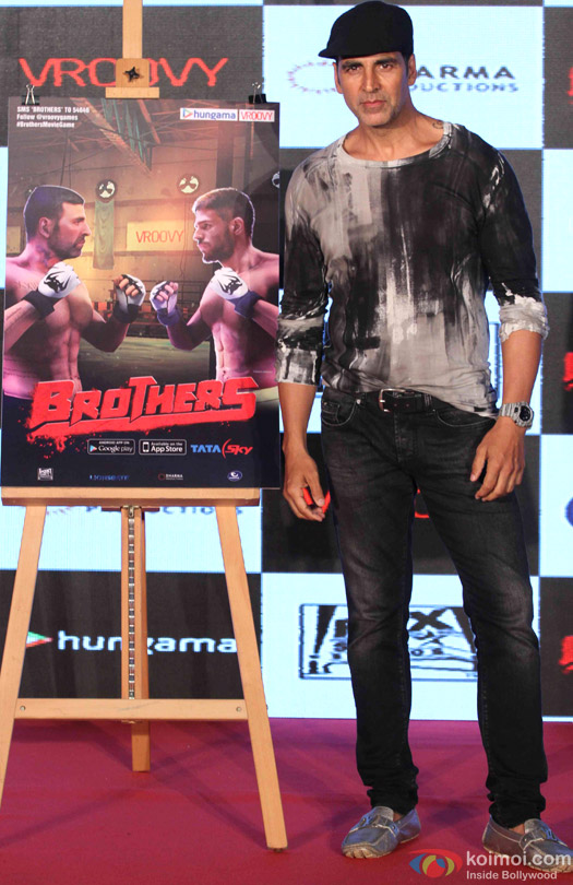 Akshay Kumar during the game launch 'Brothers: Clash of Fighters'
