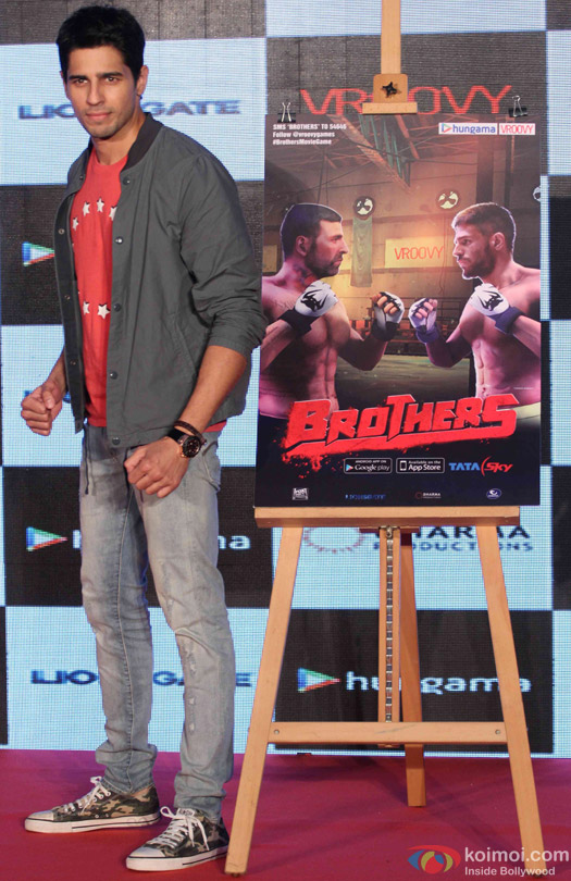 Sidharth Malhotra during the game launch 'Brothers: Clash of Fighters'