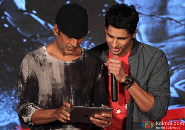 Akshay Kumar and Sidharth Malhotra during the game launch 'Brothers: Clash of Fighters'