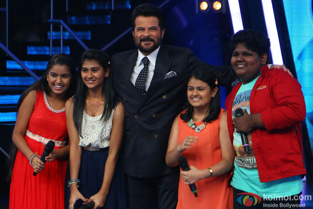 Anil Kapoor during the promotion of film Welcome Back on the sets of Indian Idol Junior