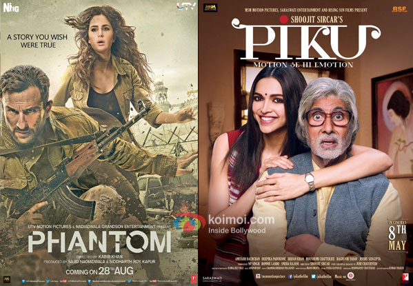 Phantom and Piku movie posters