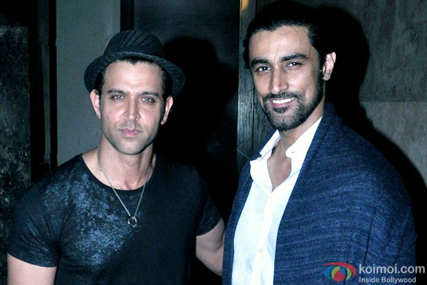 Hrithik Roshan and Kunal Kapoor at an event