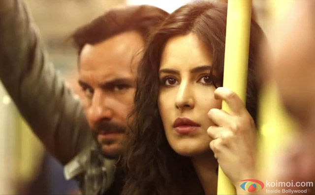 Saif Ali Khan and Katrina Kaif in a still from movie 'Phantom'