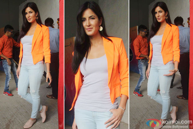 Katrina Kaif during the promotion of film Phantom on the sets of Indian Idol Junior
