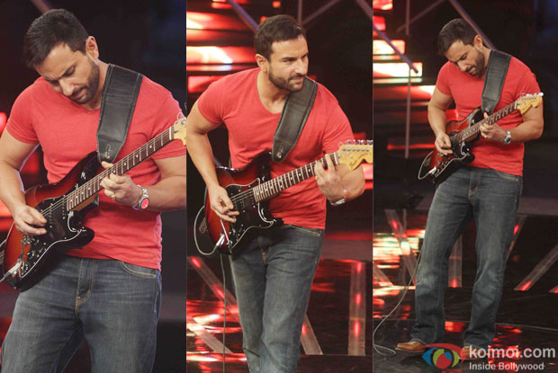 Saif Ali Khan during the promotion of film Phantom on the sets of Indian Idol Junior