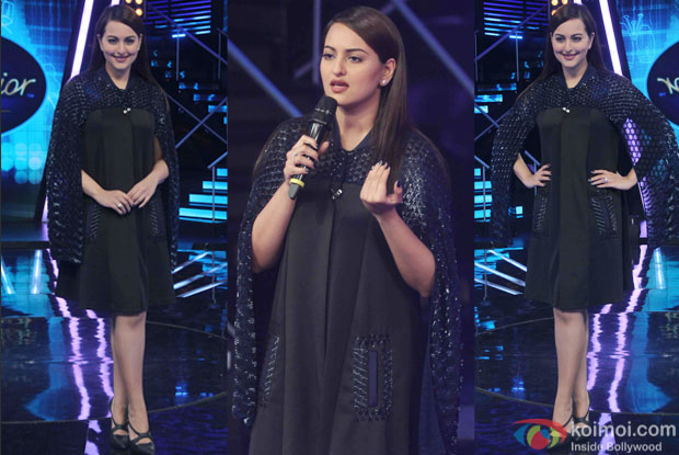 Sonakshi Sinha during the promotion of film Phantom on the sets of Indian Idol Junior