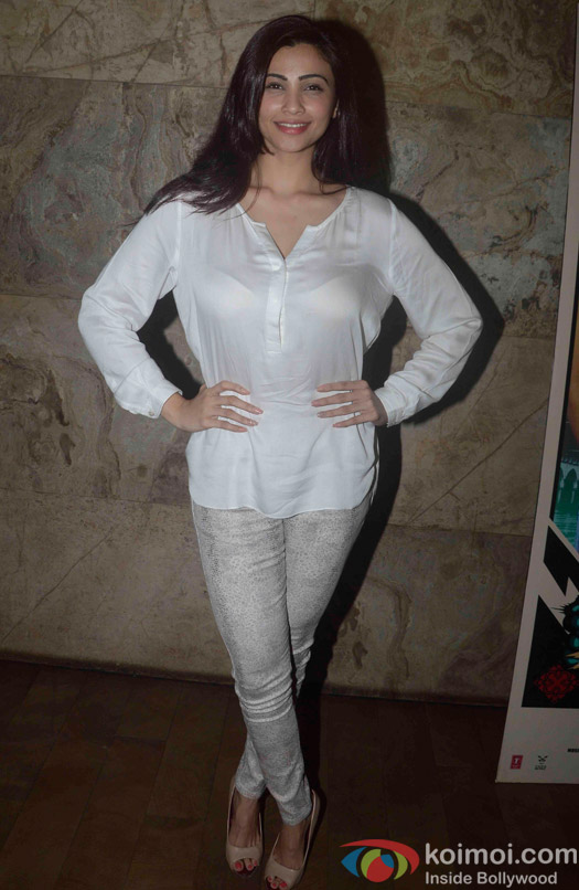 Daisy Shah during the screening of Movie Bangistan