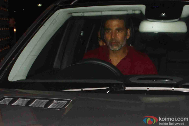 Akshay kumar during the Screening Of the movie Brothers