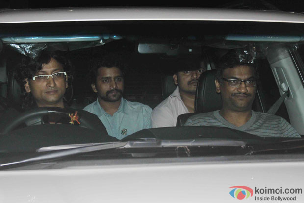 Ajay and Atul during the Screening Of the movie Brothers