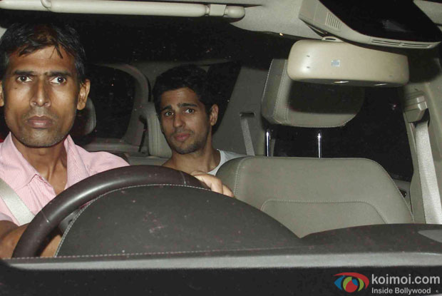 Sidharth Malhotra during the Screening Of the movie Brothers