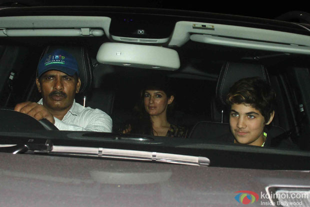 Twinkle Khanna and Aarav Kumar during the Screening Of the movie Brothers